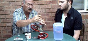 Set up a water pipe or hookah