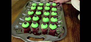 Make red velvet Voodoo themed cupcakes
