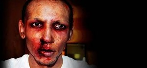 Create an infected zombie makeup look for Halloween
