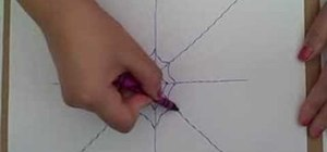 Draw a super basic spider web