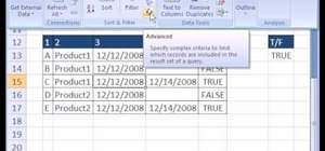 Extract records from non-blank fields in MS Excel