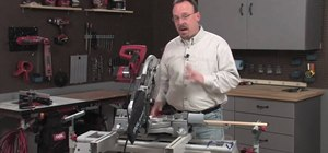 Use a miter saw with Skil & Lowe's