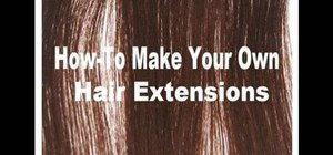 Make your own clip-in hair extensions