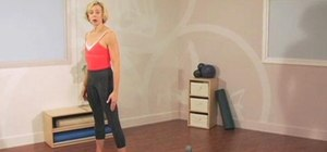 Perform a standing balance Pilates exercise routine