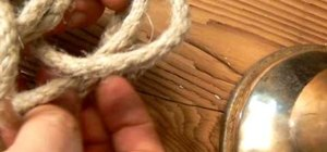 Tie a bowline on the bight knot