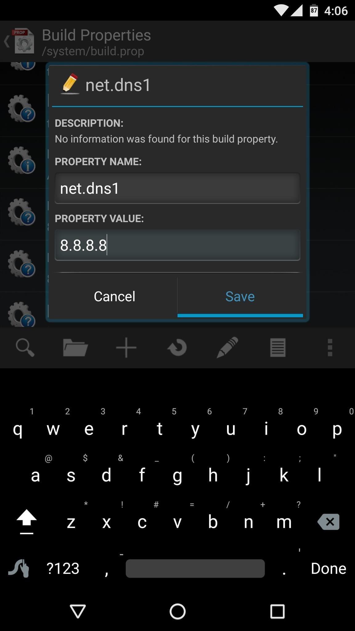 how to edit build prop