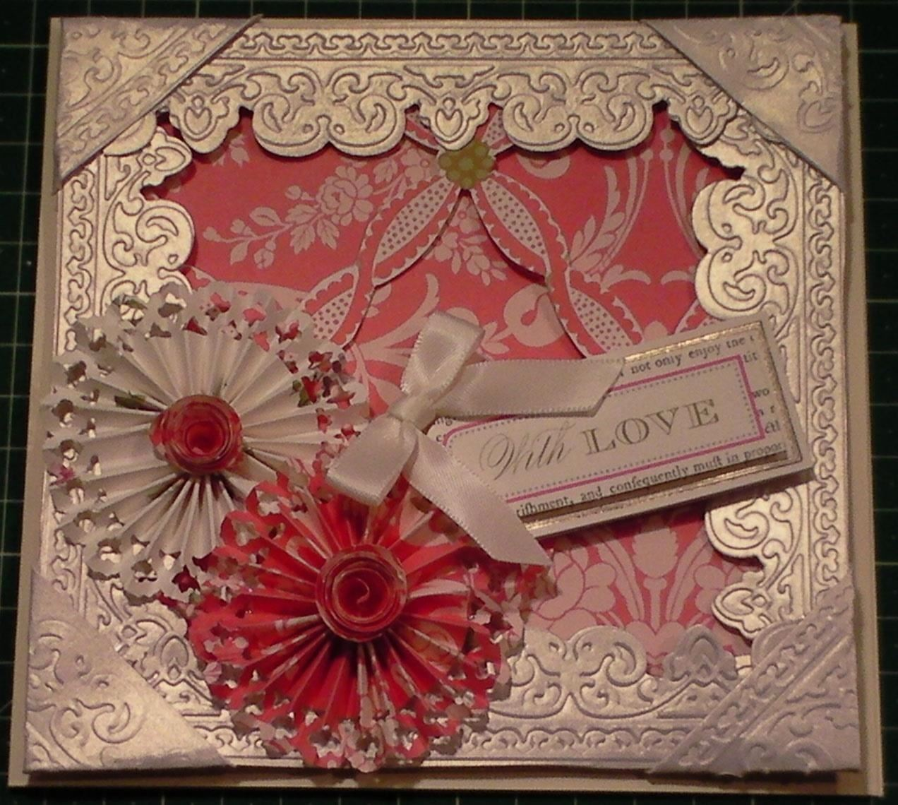 How to Make an Embossed 3D Floral Frame Card
