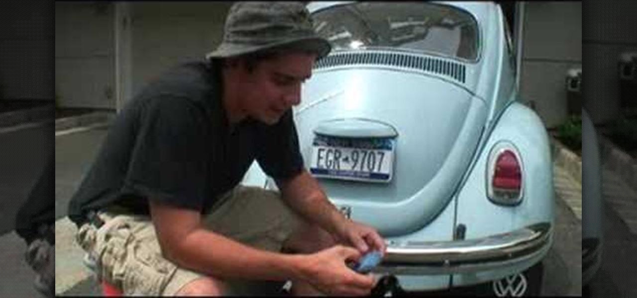 restore bumpers   classic vw beetle volkswagen bug car mods wonderhowto