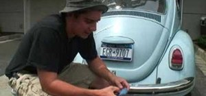 Restore bumpers on a classic VW Beetle Volkswagen Bug