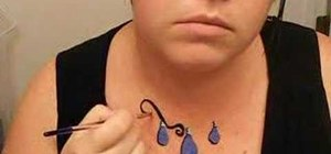 Use face paint to create a necklace