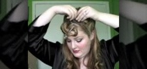 Create a pin-up girl inspired hair style