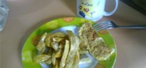 Make Camote Fries or Sweet Potato Fries for Breakfast