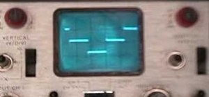 View a waveform of an inverter on a oscilloscope
