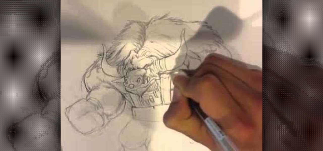 Draw a World of Warcraft-Minotaur