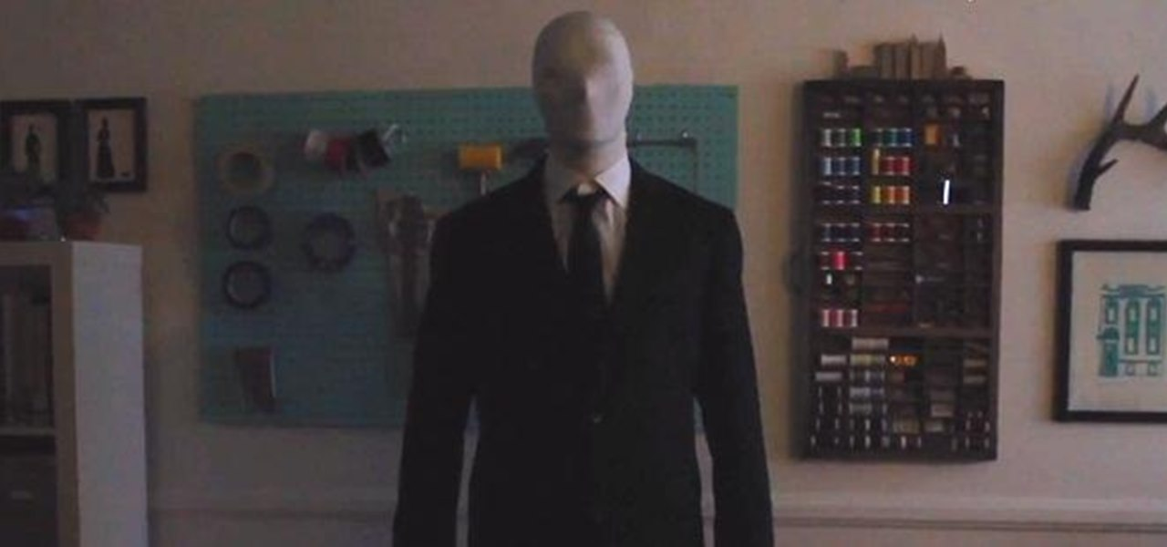 Make a Creepy Slender Man Costume for Halloween
