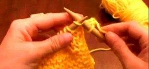 Learn knitting basics