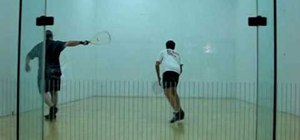 Cut of the lob z serve in raquetball