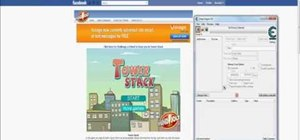 Hack the Facebook game Tower Stack for a high score