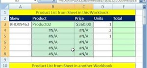 Make an invoice from an external product list in Excel