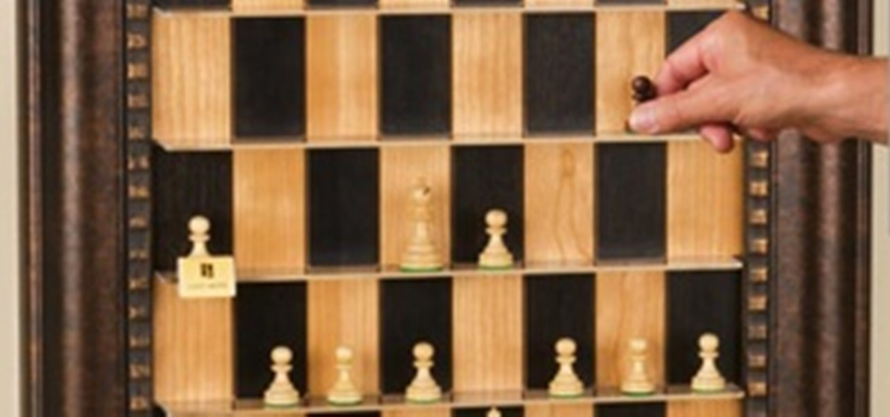 How To Make A Vertical Wall Mounted Chessboard Board Games