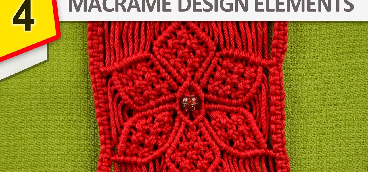 Design Elements - Macrame Flowers