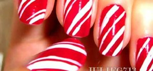 Create candy cane nails for the holidays