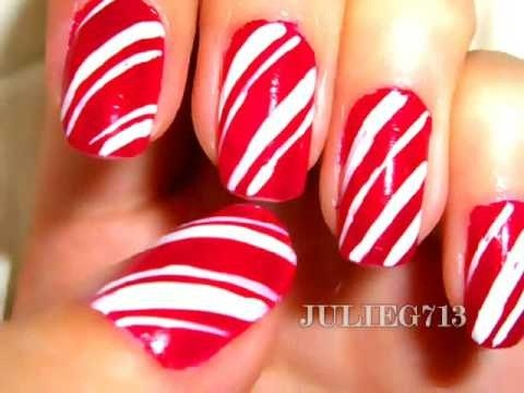 Create Candy Cane Nails For