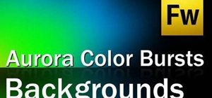 Create an aurora color burst background for your websites in Fireworks