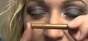 Create a fun Zeus Halloween makeup look with thunderbolts