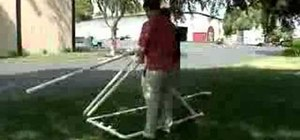 Make and build a PVC trebuchet