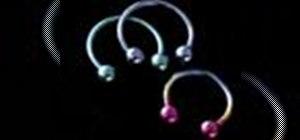 Choose & insert a circular barbell for body piercings