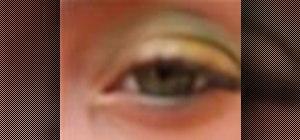 Get a green & gold eyeshadow makeup look