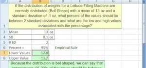 Work with Chebyshev's Theorem & bell curves in Excel