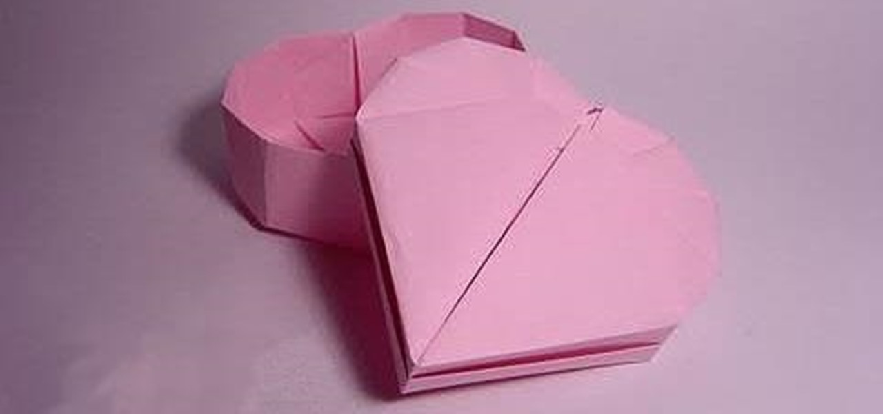 Fold A Heart Shaped Box For Valentines Day