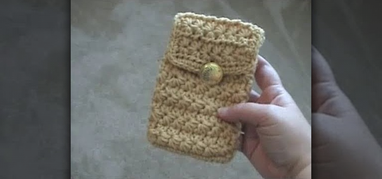 How to Crochet a cell phone pouch for an iPhone, iPod or