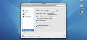 Use fast user switching in Mac OS X