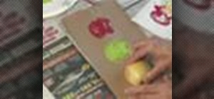 Craft apple stamps