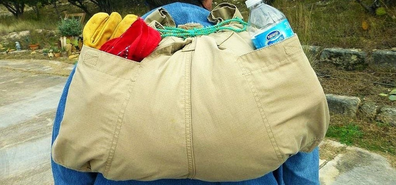 Turn a Pair of Pants into a Lightweight Emergency Backpack