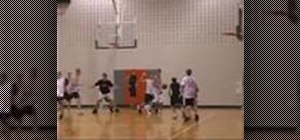 Do the  five man weave in a game of basketball