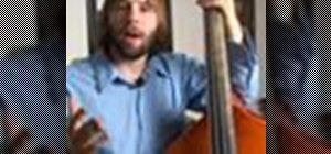 Play upright bass in F Major
