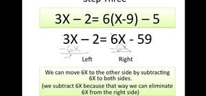 Solve an equations for x