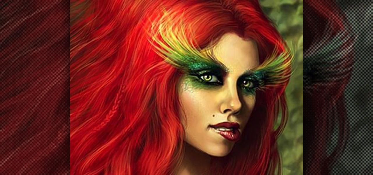 how to create a poison ivy makeup look for halloween makeup wonderhowto