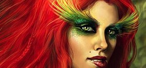 Create a Poison Ivy makeup look for Halloween