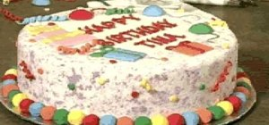 Make and decorate a dazzling day birthday cake