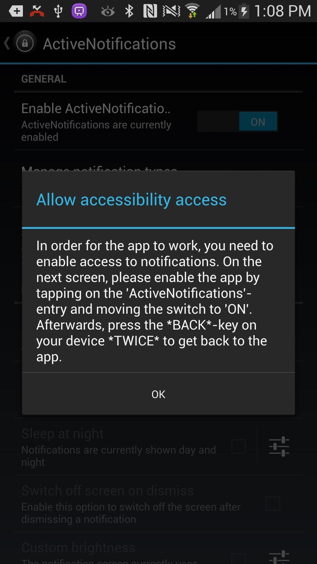 """How to Save Battery Power on a Samsung Galaxy S4 with Moto X Style """"Active Display"""" Notifications"""