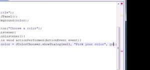 Use JColorChooser for Java programming