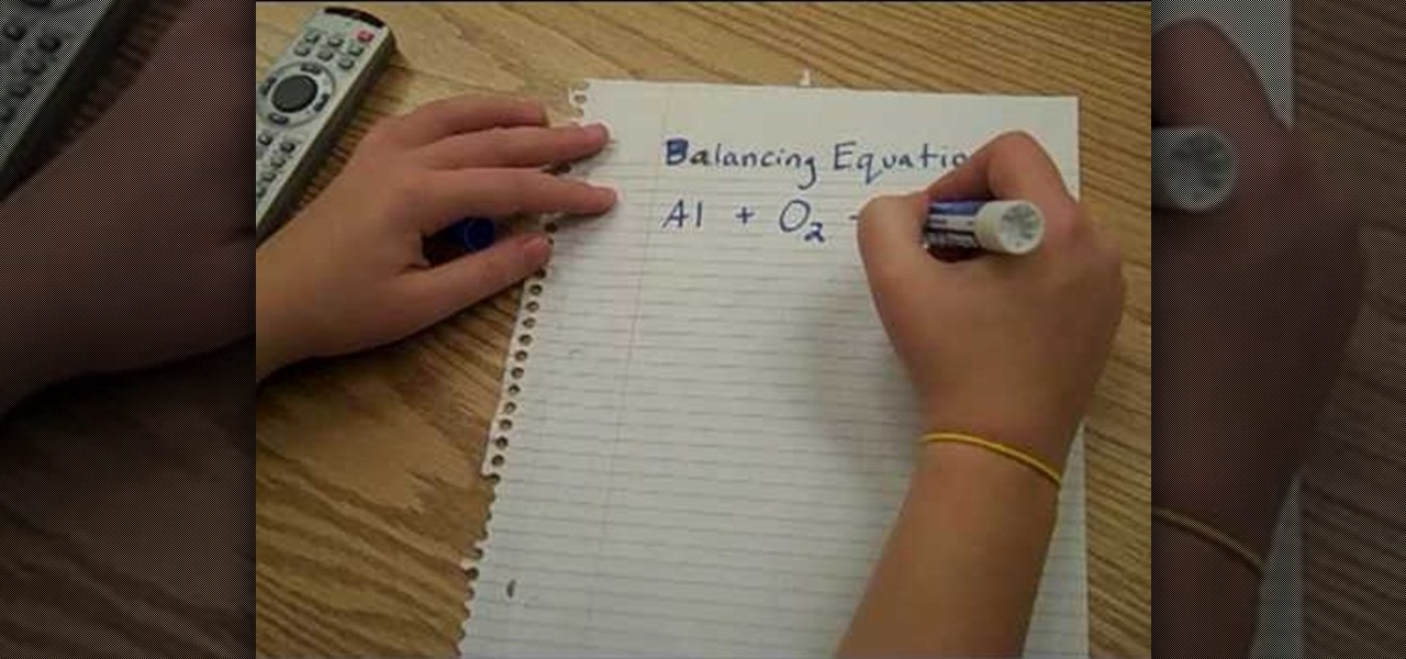 How to Balance chemical equations the fun way « Science