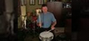 Play the flamadiddle drum rudiment