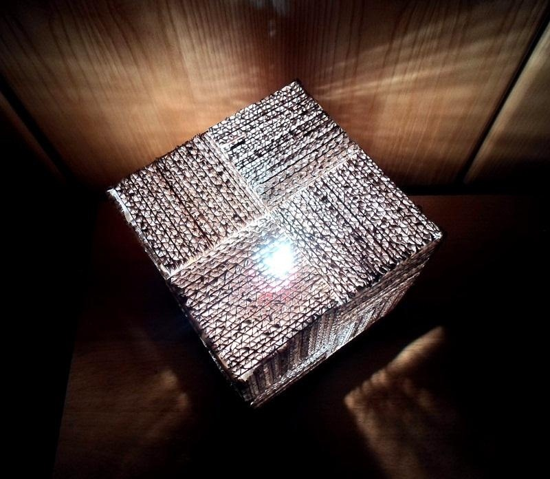 How to Recycle Your Junk Cardboard Boxes into a Super Simple & Stylish Cube Lamp