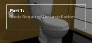 Install a toilet for your home
